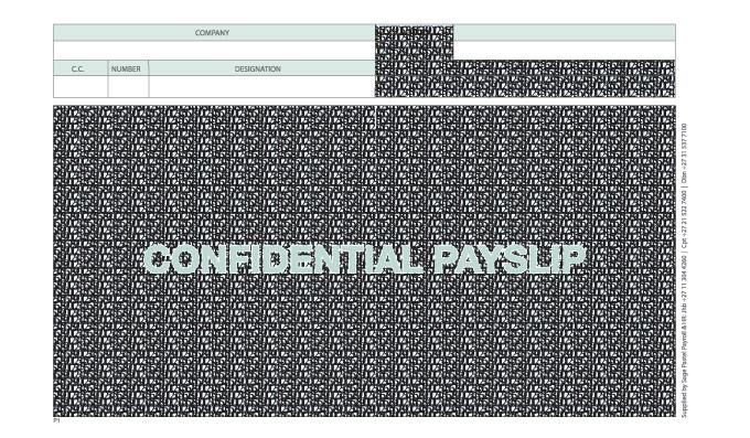 Sage Pastel Payroll Payslips – Tangobiz
